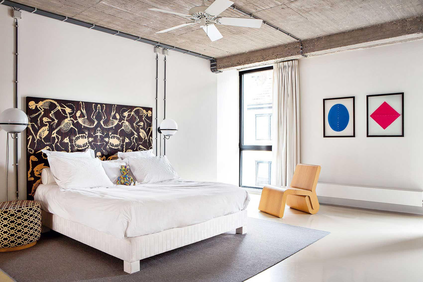 Urban loft bedroom  Stylish Colourful Design Of An Contemporary Belgium Loft
