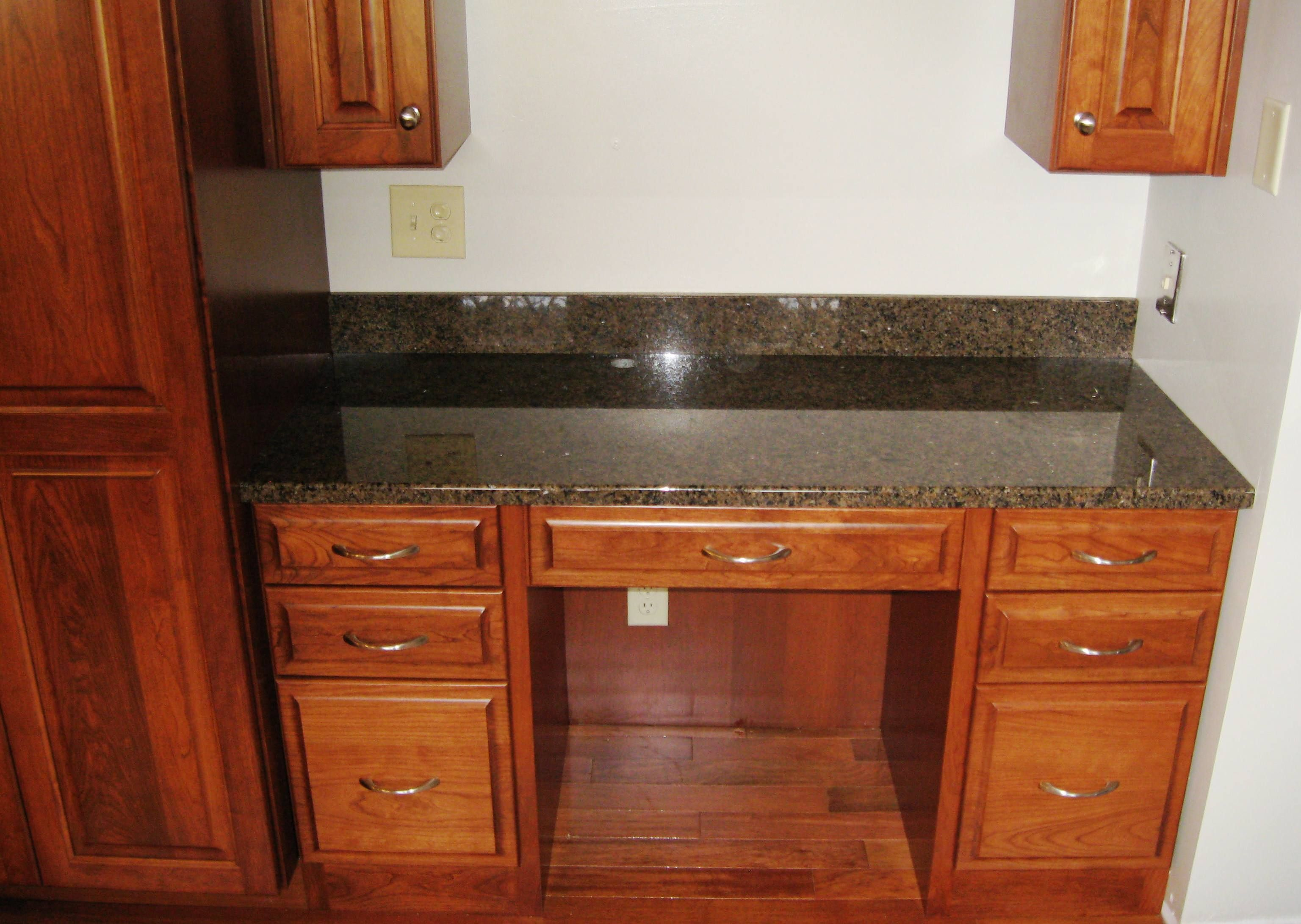 Granite Top For Built In Desk Area Lightner Granite Marble Inc Built In Desk Desk Areas Home