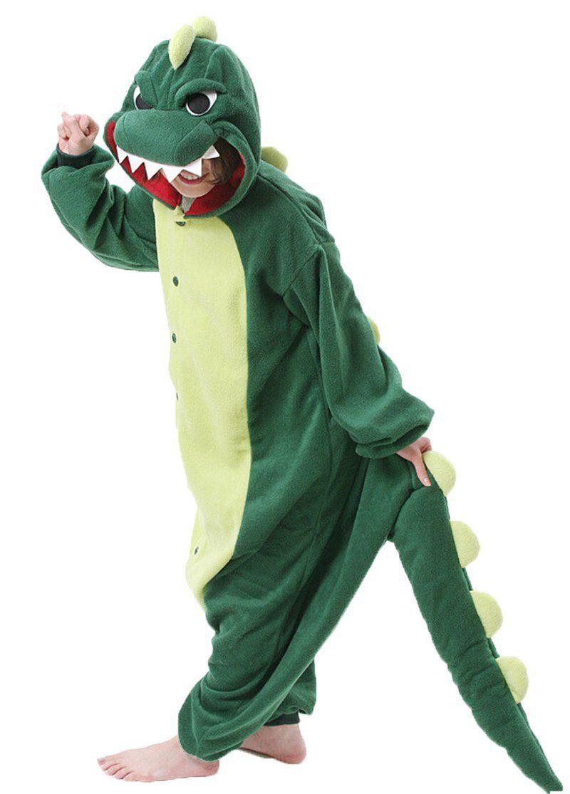 Dinosaur - Cartoon Animal Onesie Pajamas Kigurumi Adult Halloween ...