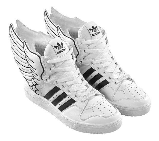 free shipping 6d7f3 1845f ... Adidas Originals by Originals Jeremy Scott JS Wings Blanco Negro 2.0  Cuero DESCUENTO meet 768ea af402 ...