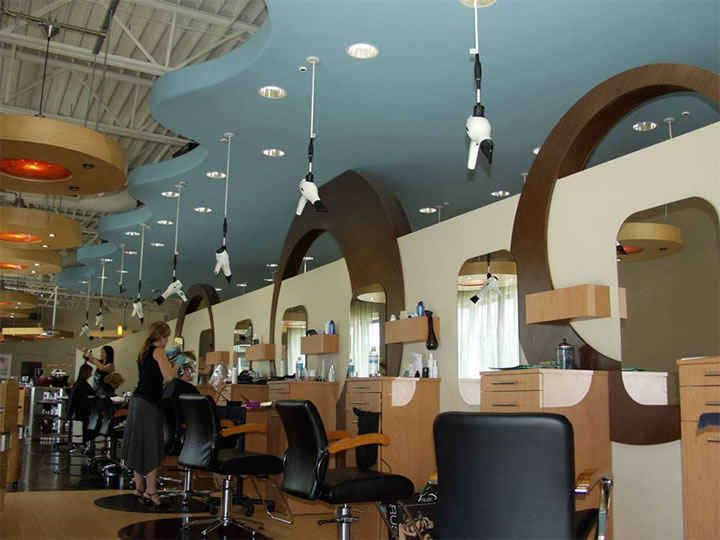 Blow Dryers That Hang From The Ceiling Salon Ideas