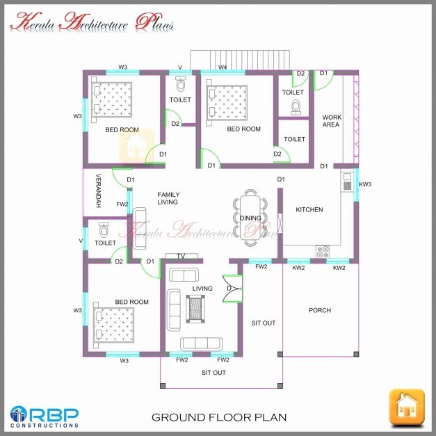 Best House Plans Design Ideas For Home Impressive 3 Bedroom House Plans In Kerala Single Floor Single Sto Model House Plan Kerala House Design New House Plans