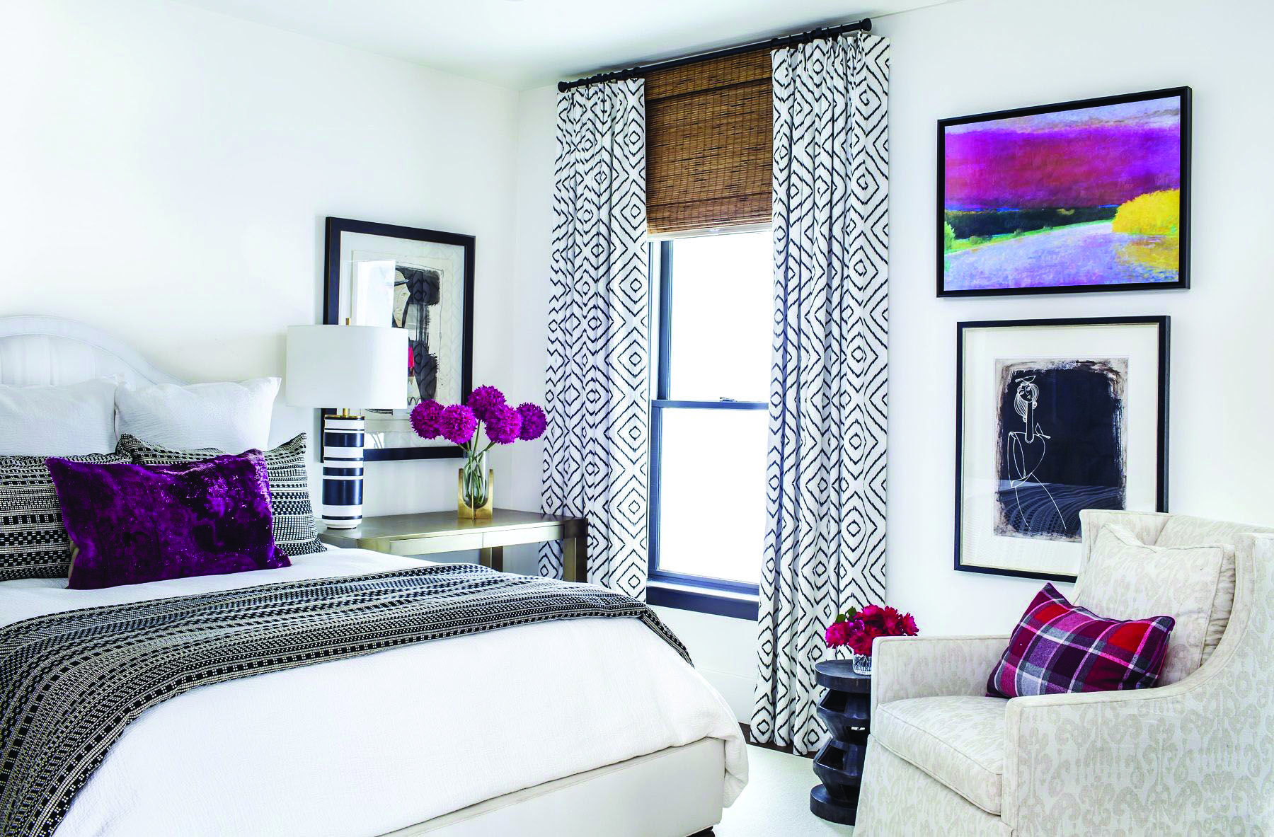 4 measures to creating the utmost black and white bedroom