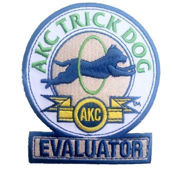 Akc trick dog evaluator patch | products | pinterest | dogs, dog.