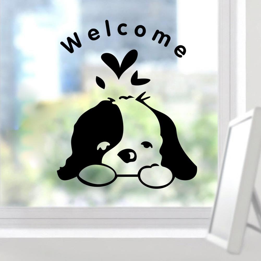 Aliexpress Com Buy Welcome Kids Room Cute Dog Door Funny Wall Sticker Home Decoration Pet Shop Decals 348 Diy Vinyl Wallpaper Vinilos Cuarto Infantil Motivo [ 1001 x 1001 Pixel ]