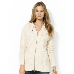 Review Lauren Jeans Co. Full-Zip Hooded Cardigan price - This cozy cardigan from Lauren Ralph Lauren is crafted from a warm cotton blend and designed with a comfortable drawcord hood. The cardigan has an attached drawcord hood