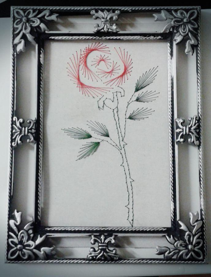 Роза в стиле Изонить (by) Anneta