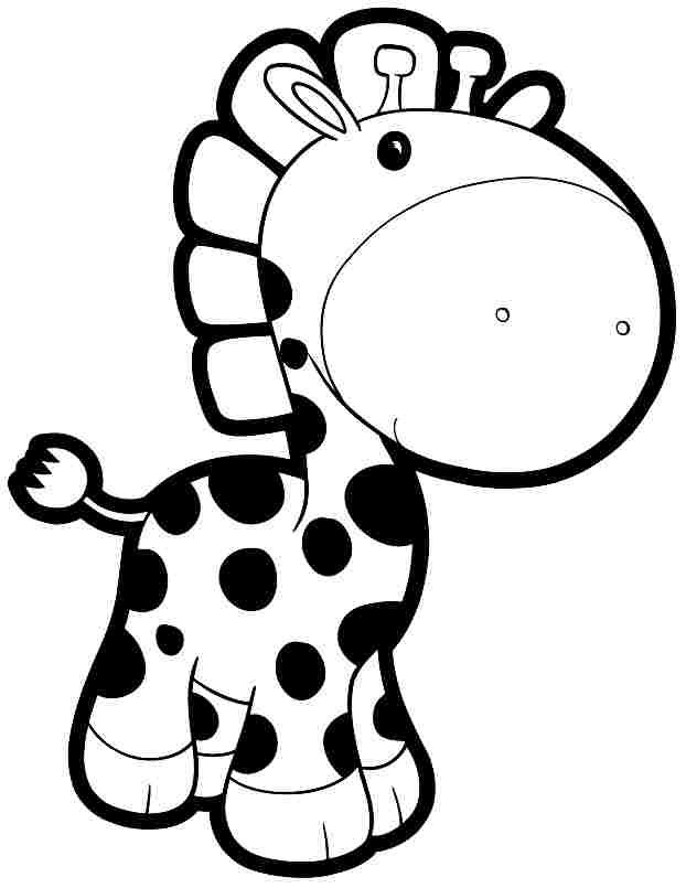 Colouring Pages Animal Giraffe Free Printable For Kids  Boys