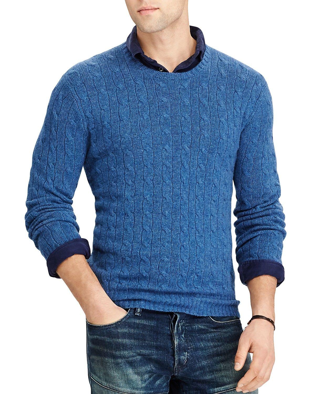 2e3a5fc53 Polo Ralph Lauren Cable-Knit Cashmere Crewneck Sweater
