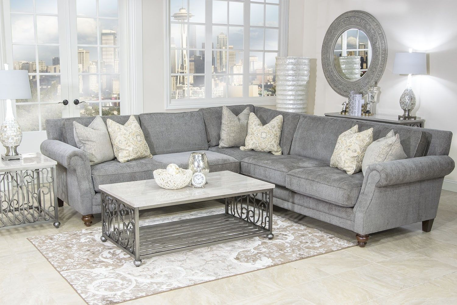 Raquel Sectional - Sectionals - Living Room | Mor Furniture for Less ...