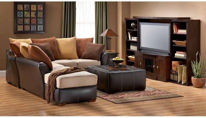 Slumberland furniture canton collection 3 pc sectional - Slumberland living room furniture ...
