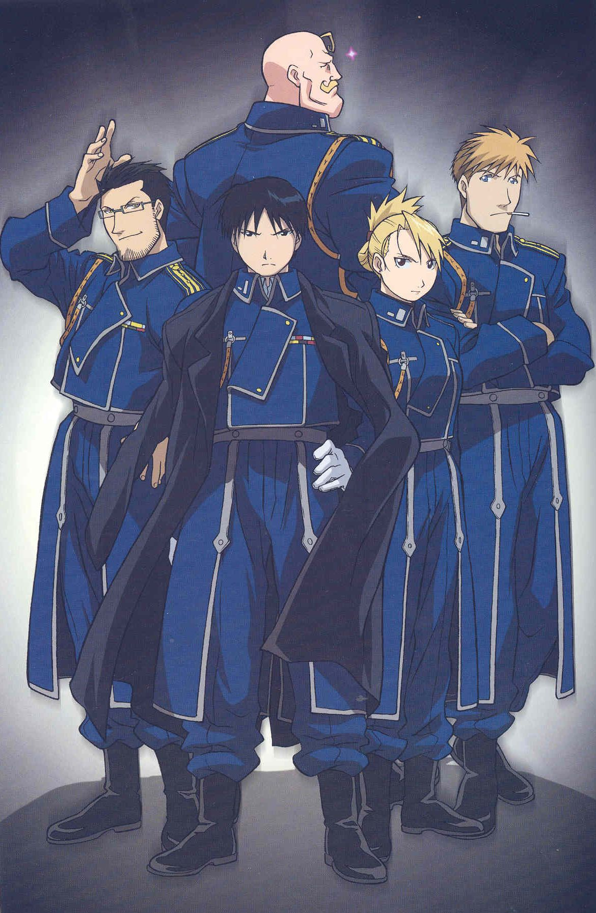 Fullmetal Alchemist - Roy and co