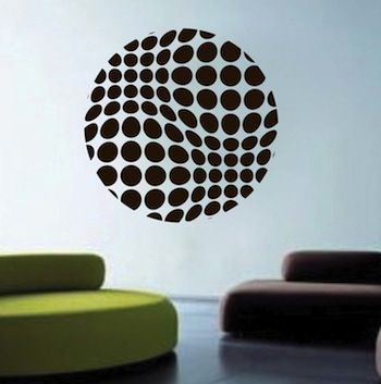 Halftone Sphere Wall Decal Wall Appliques Diy Wall Design Wall