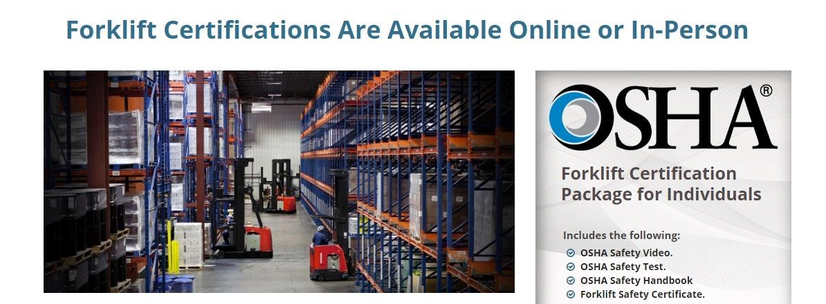 Get The Best Osha Forklift Certificate From Superiorforklifttraining