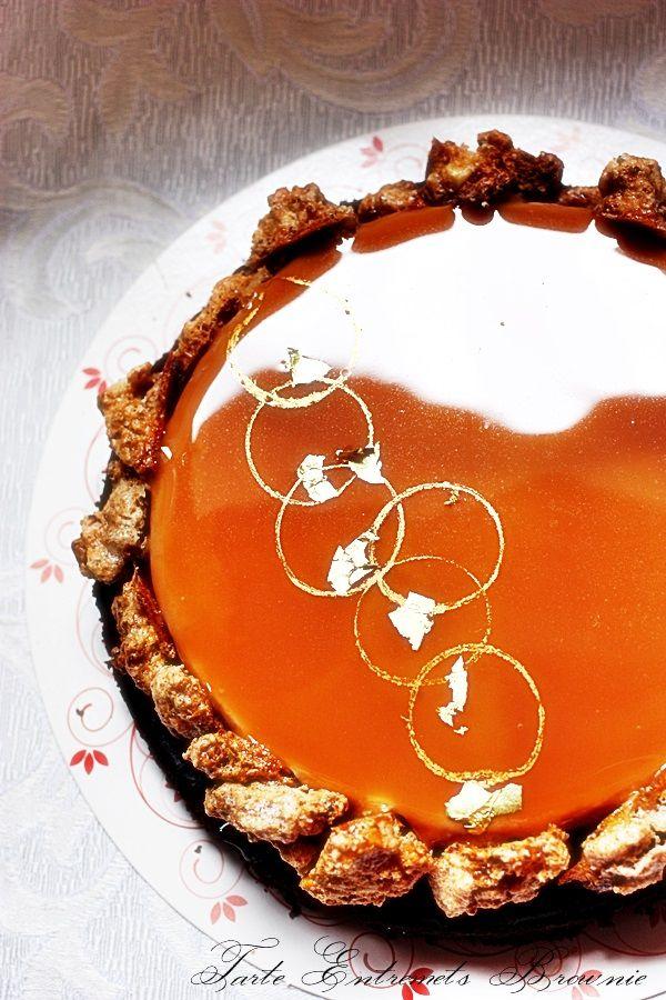 Tarte de Noël Entremet Brownie par Philippe Bertrand, MOF