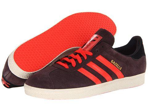 Adidas Originals Gazelle Athletic Shoes Night Burgundy / Hi-Res Red / Bliss