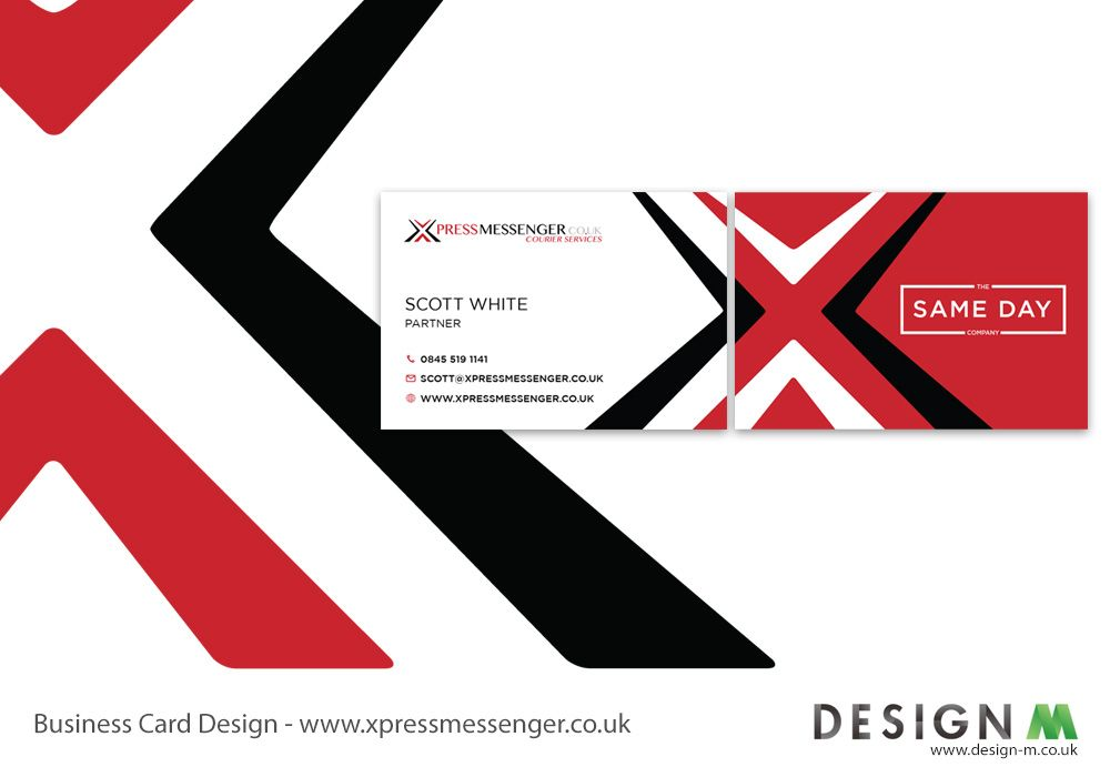Double-sided business card designed for Xpress Messenger courier ...