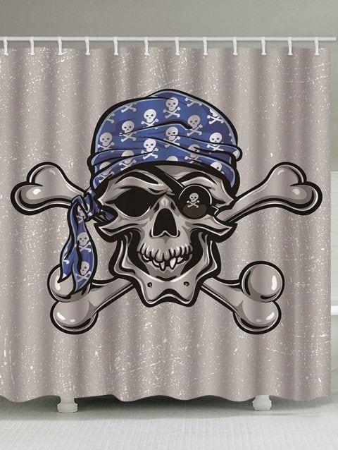 Halloween Skull Bone Shower Curtain multicolor B 130