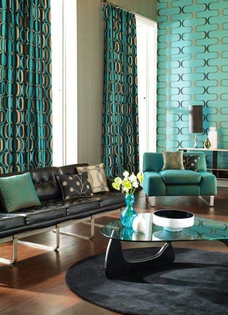 9 fotos de decoración de salas en color aguamarina Art decor