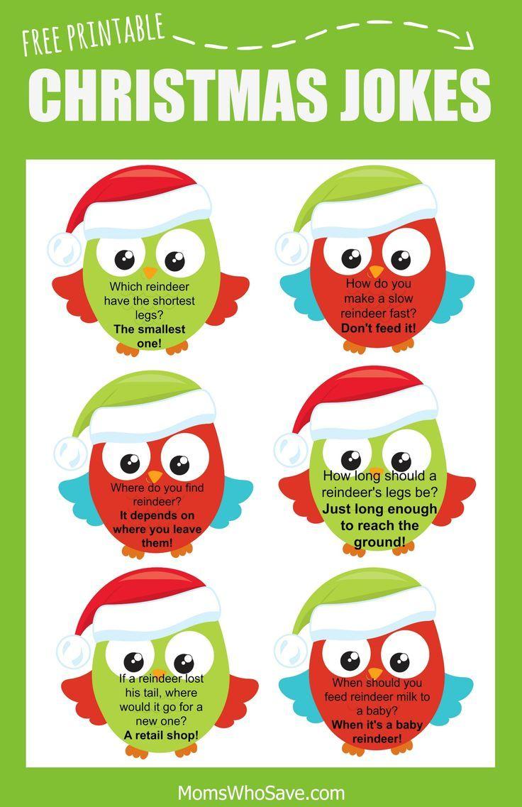 Free Christmas Lunch Box Jokes Printable Christmas jokes