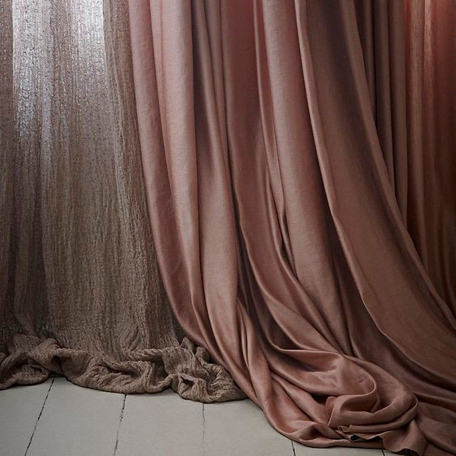 Pair Of Thickened Cotton Blend Velvet Curtains, Solid