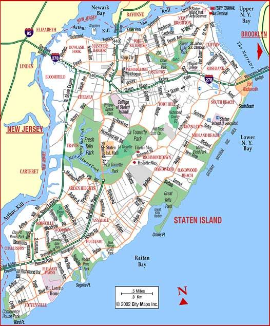 St George Staten Island Ny Map