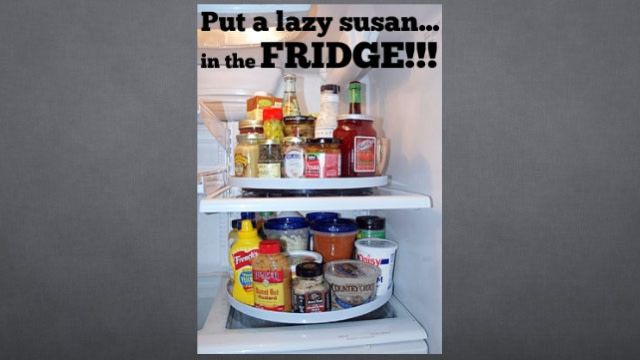 Organize Your Fridge With a Lazy Susan | Lazy susan, Home ...