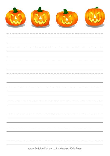 printable halloween lined border paper free