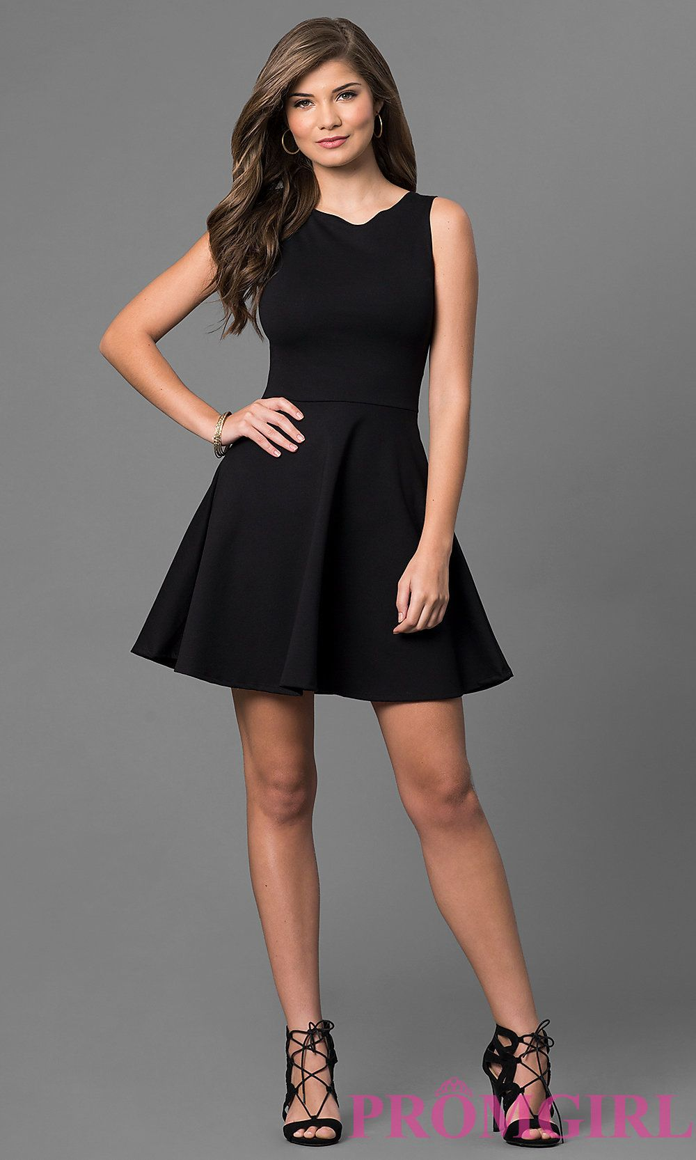 a7f6da4a66d Image of short sleeveless a-line cut out back dress Style  CH-2420 Detail  Image 1