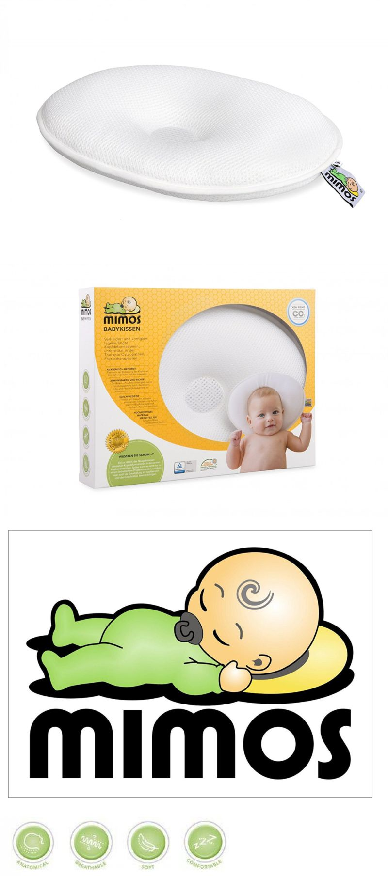 Mimos Baby Pillow Xxl Air Flow Safety Tuv Certification Bed Pillows 180907