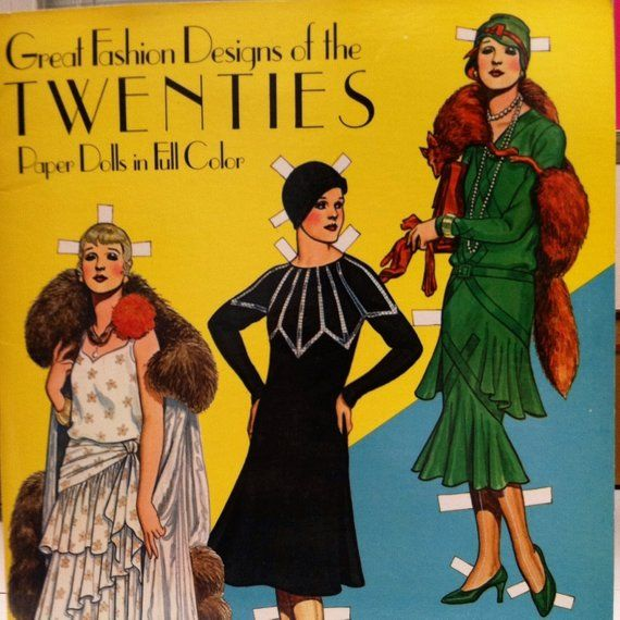 Fashions Of The 1920s Paper Dolls From Famous Designers Famous Designers Fashion Paper Dolls