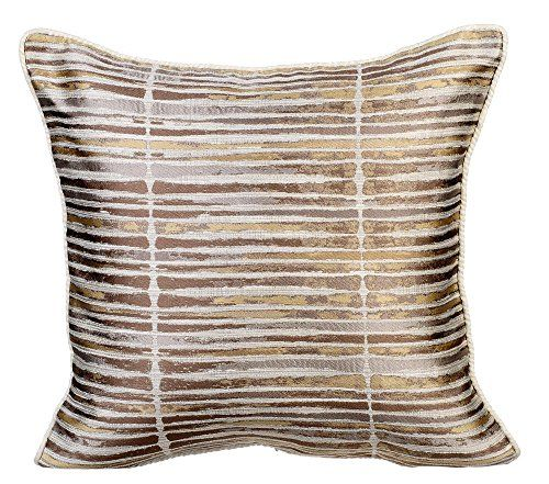 Designer 40×40 Inch Pillow Covers Gold Pillows Cover Stripes Unique 22 Square Pillow Covers