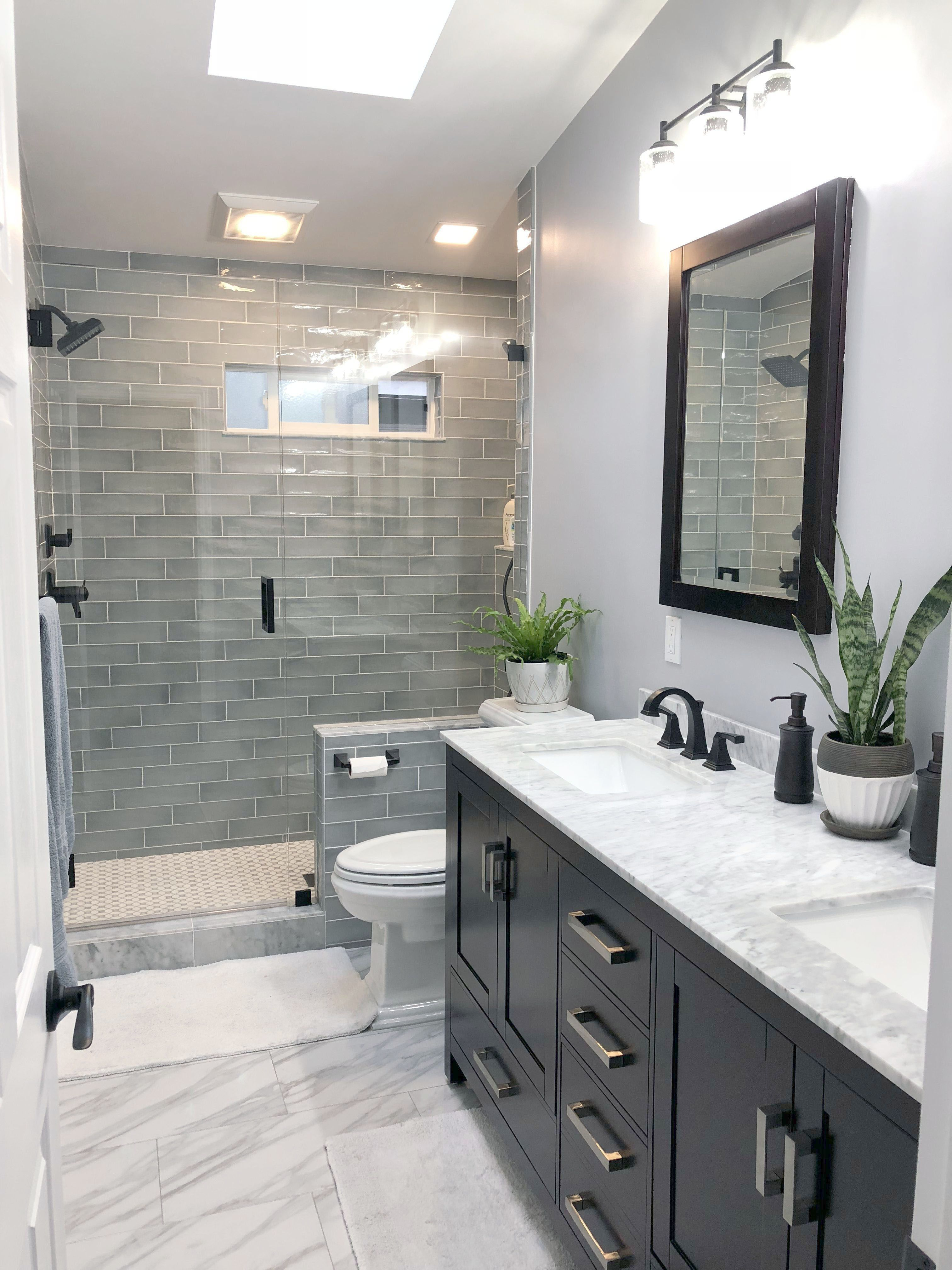 Bathroom Vanities Gray Color Into Bathroom Faucets Online Small Bathroom Remodel Bathroom Remodel Master Bathroom Tile Designs