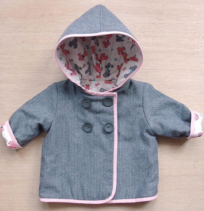 6976919b8 Baby Coat - Robert Kaufman Shetland flannel - Burda Pattern ...