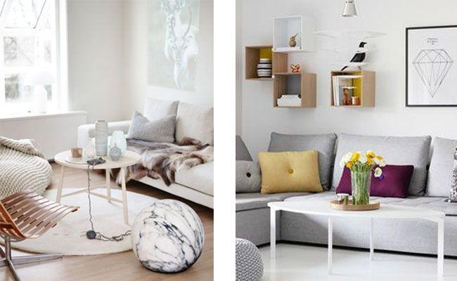 Mesas De Centro Para Salones Pequenos Estilo Escandinavo - Mesas-para-salones-pequeos