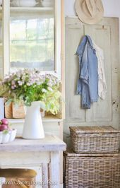 Design Dilemma Tips for hiding a television  media in your home  French Country Cottage  I love the look of an older home and therefore I prefer
