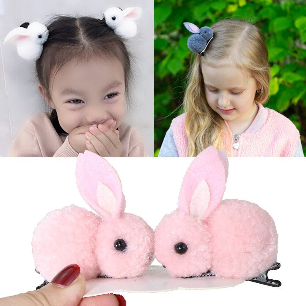 11Pcs/Set Korean Hair Clip Rabbit Hairpins For Girls Hair