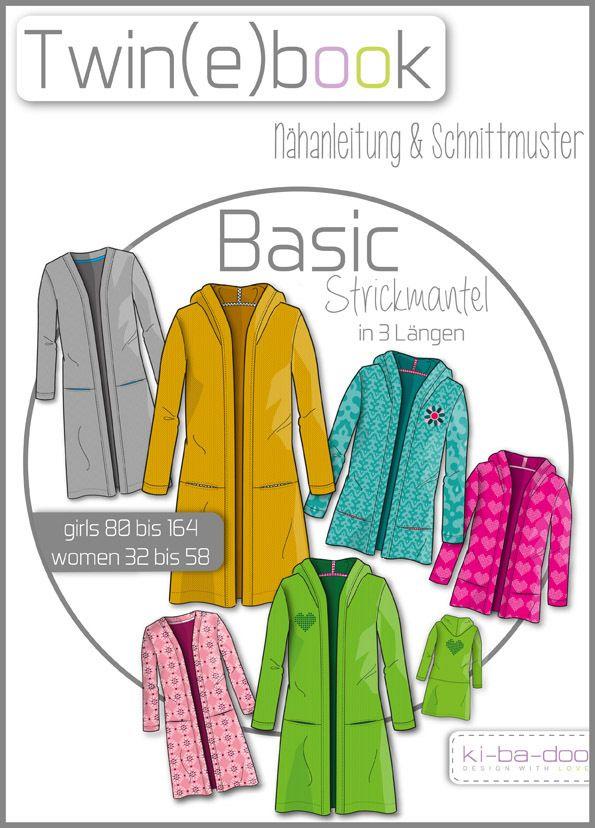 Twin(e)book Basic Strickmantel - Schnittmuster und Anleitung als PDF ...