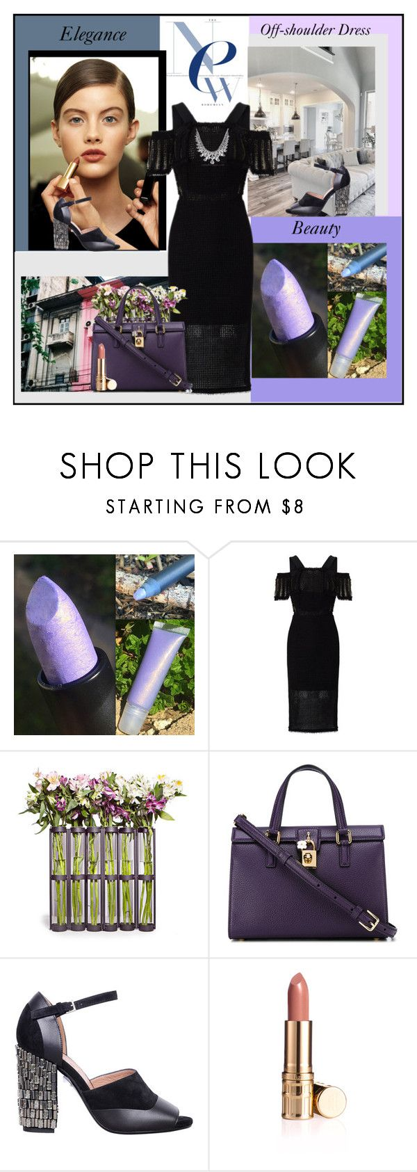 """Off-Shoulder Dress"" by fantasy-rose ❤ liked on Polyvore featuring Chanel, Roland Mouret, Danya B, Dolce&Gabbana, Marni, blackdress and offshoulderdress"