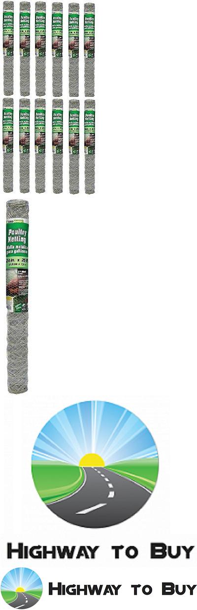 Hardware Cloth Metal Mesh 180985: 12 Rolls Midwest 308464B 24 X 25 2 ...