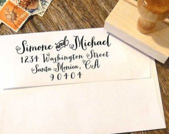 Handwriting Address Stamp for weddings and everyday by Designkandy