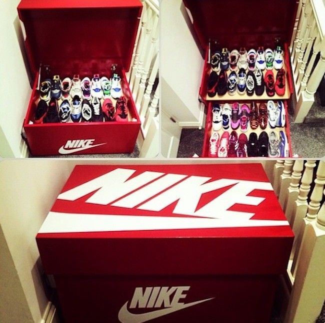 Nike & Air Jordan Slide Out Wooden Sneaker Box Storage by Designer Woodist  Punk » Design