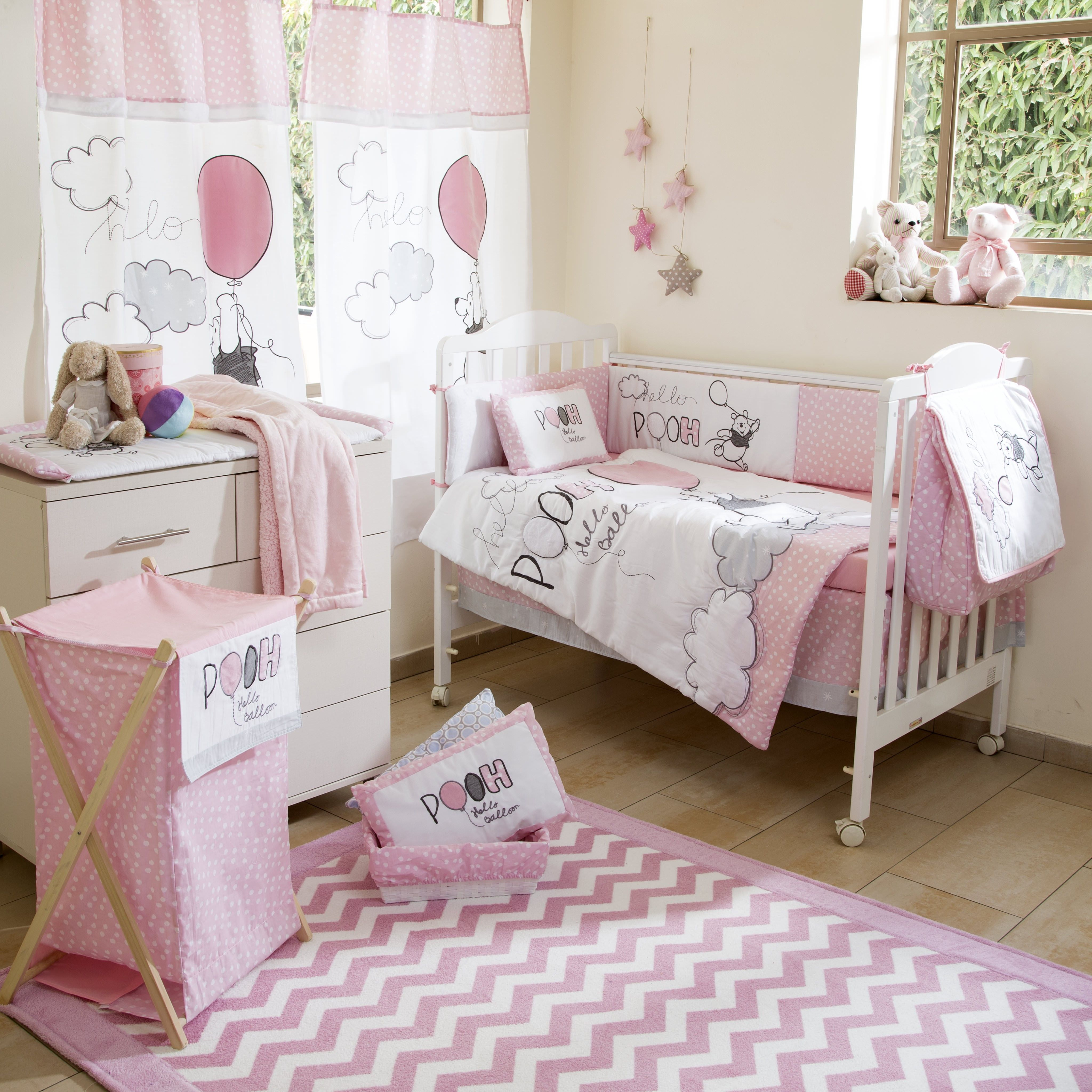 Baby Bedding Sets Pink Winnie The Pooh Play Crib Collection 4 Pc Set Nursery