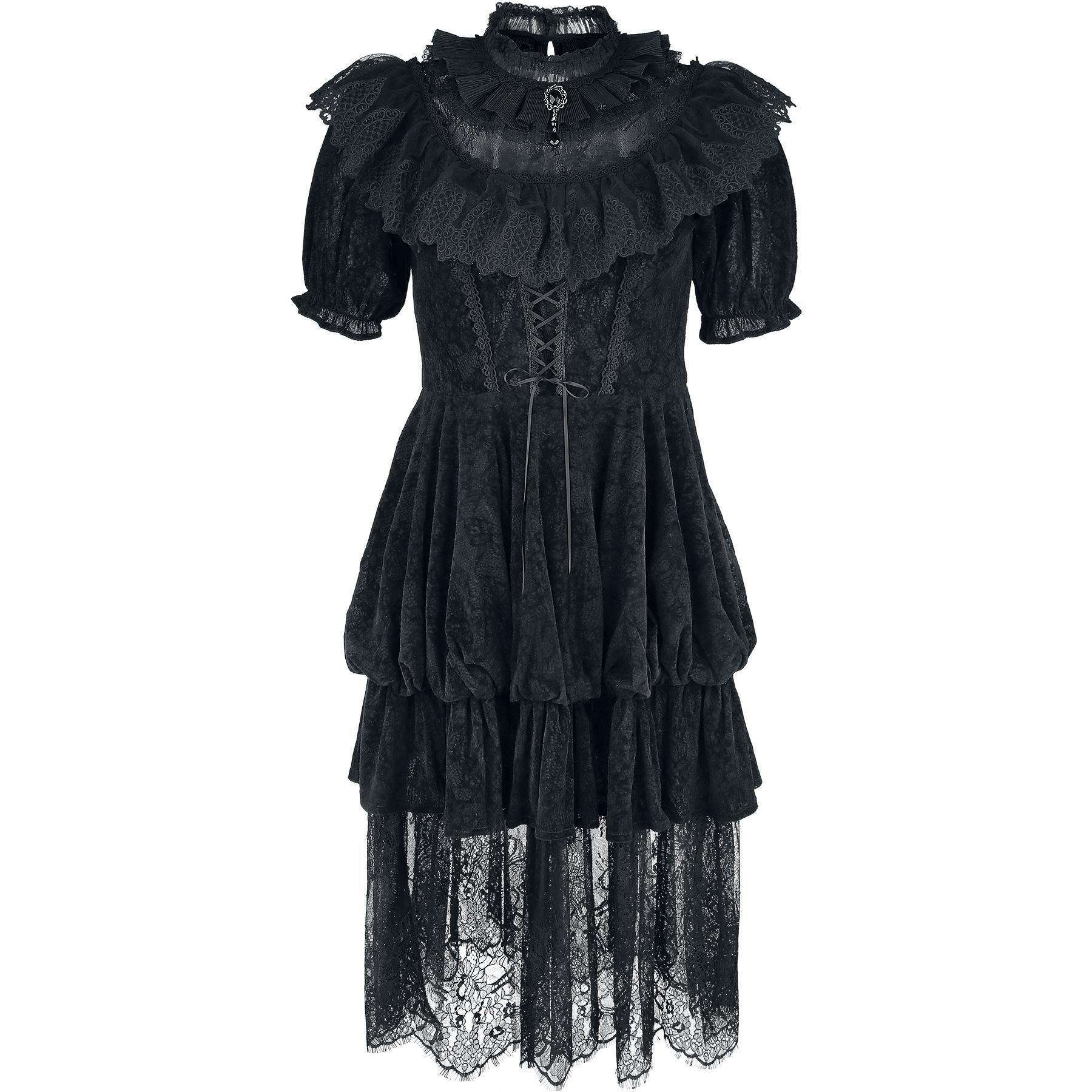 Punk Rave Mittellanges Kleid, Frauen \