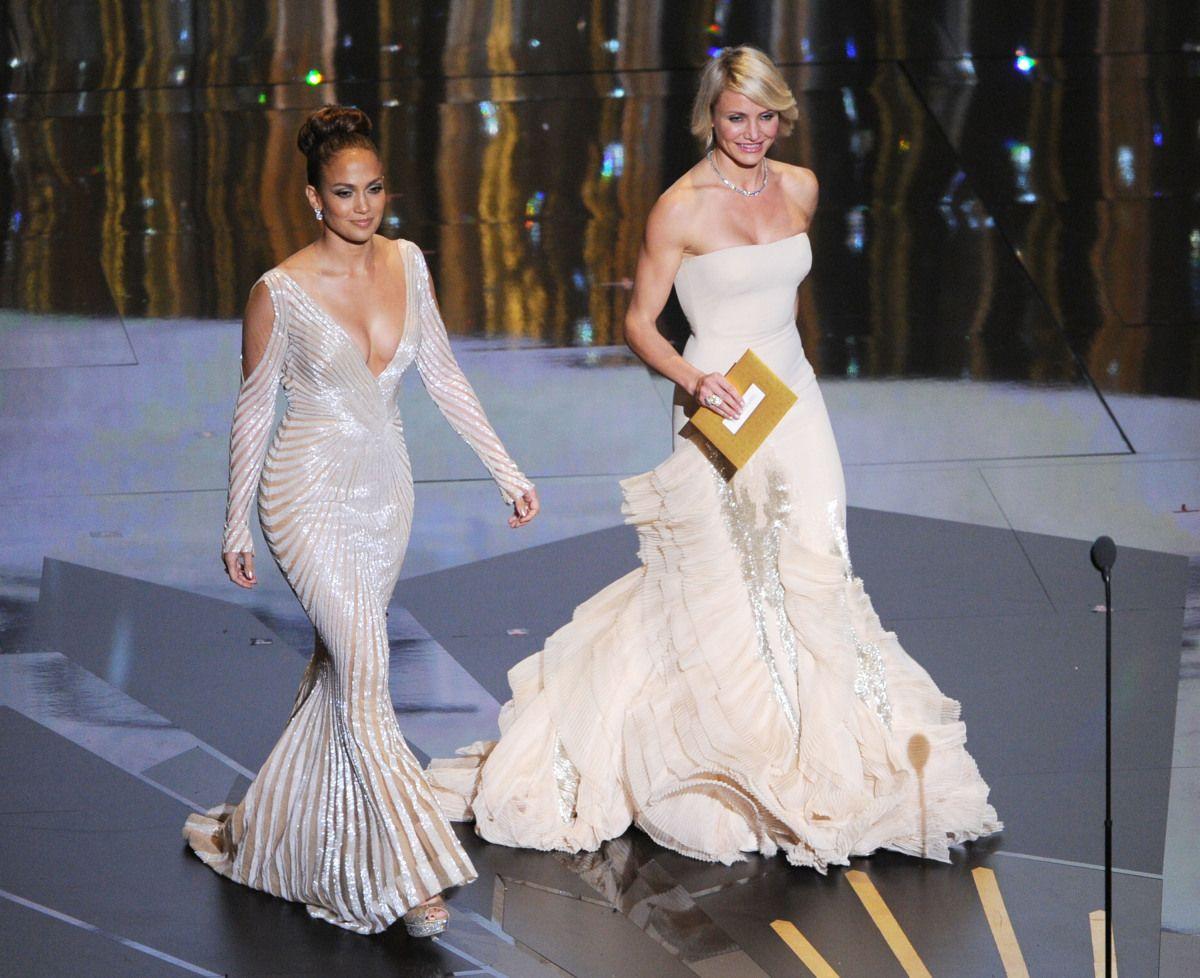 Jlo wedding dress  Jennifer Lopez Oscars Dress  A Little Too Sheer PHOTOS