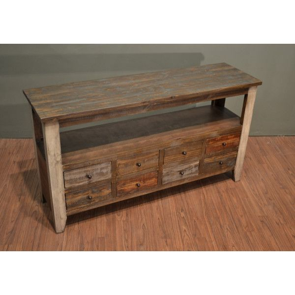 Rustic Solid Wood 55 Inches Wide Tv Stand Media Console Sofa Table