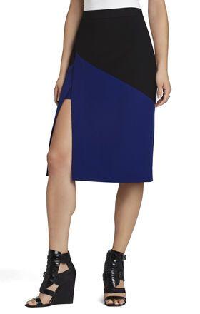 Jowell Color-Blocked Pencil Skirt