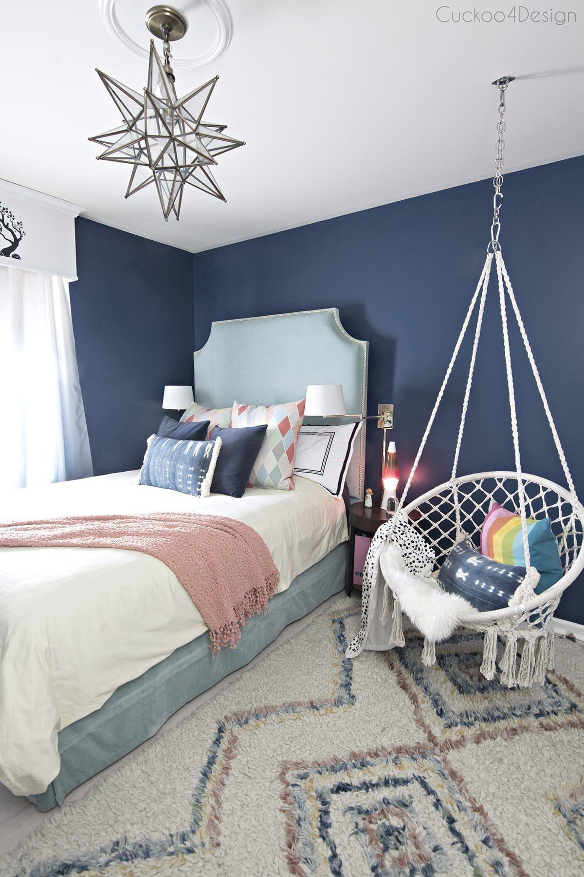 Dark Blue Girls Room | 1000 in 2020 | Blue girls rooms ...