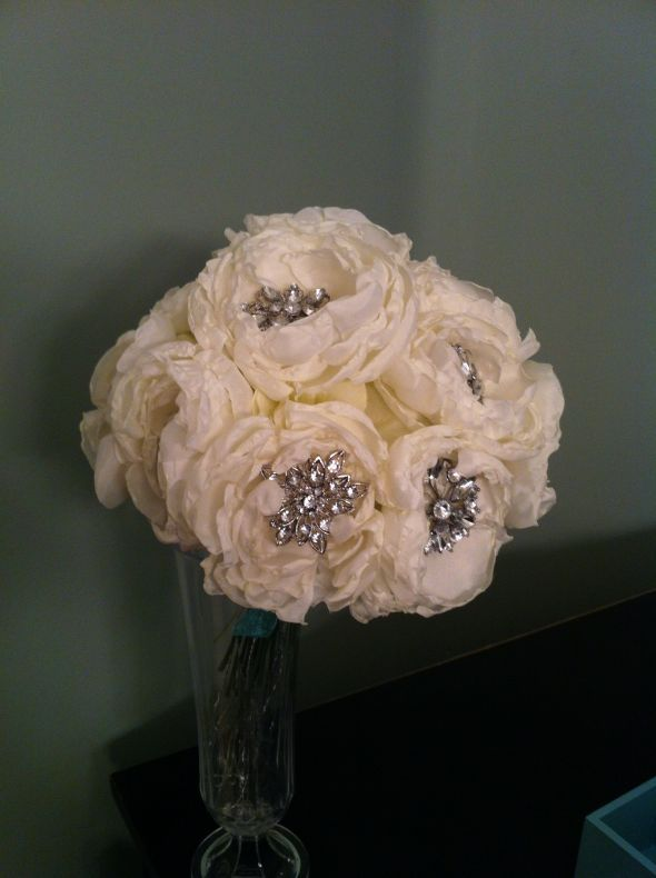 My DIY Fabric Flowers for Use in My Brooch Bouquets : wedding ...