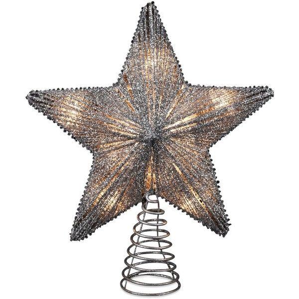 Silver Star Christmas Tree Topper